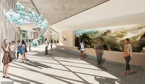 Noah's Ark conservation park will be broadcast on Globetrotter Television , Sky channel 192, from January 11, 2021. This is a rendering of the interior of the park's museum building